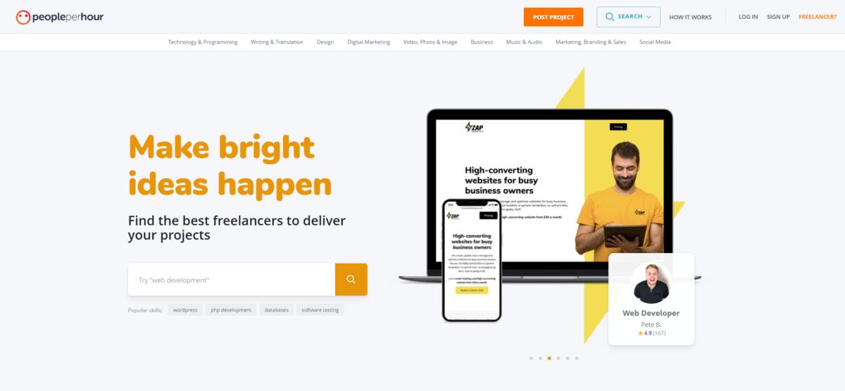 PeoplePerHour: Portal web para encontrar trabajo remoto